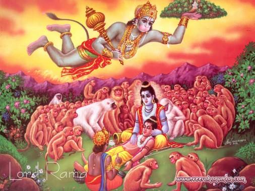 Hanuman Images Black Background 1024x768 Download Hd Wallpaper