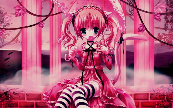 Pink Wallpaper Pink Panther Anime Girl 1920x1200 Download Hd Wallpaper Wallpapertip