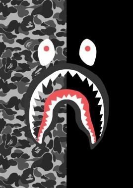 Bape Shark Camo Wallpaper Hd 444x794 Download Hd Wallpaper Wallpapertip